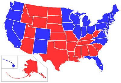 Red states 2008