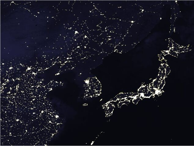 File:Korea at night.jpg