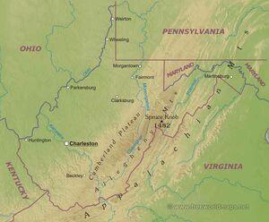 Westvirginia-map