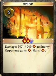 Arson lvl 20 specs