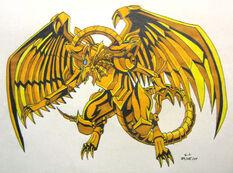 Winged Dragon of Ra by silana