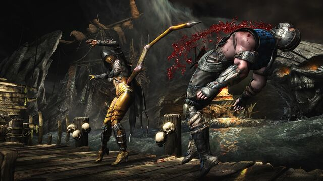 File:MKX Sub-Zero and D'Vorah at the cove.jpg
