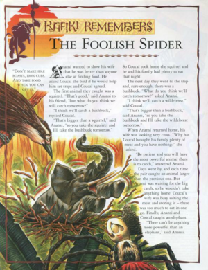 The Foolish Spider 1
