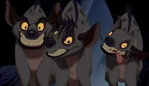 Hyenas from the Lion King