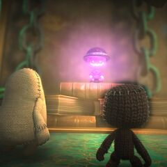 Toggle and Sackboy looking at <a href=