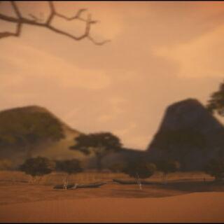 The Savannah background in LittleBigPlanet Karting
