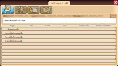 Alliance Hall - Alliance Tab