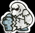 Icon snow monster