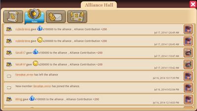 Alliance Hall - News Tab