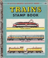 Trains Stamp Book