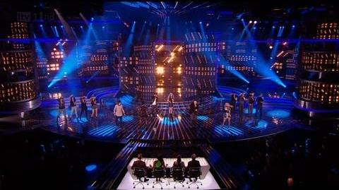 Finalists' group song Cee Lovely - The X Factor 2011 Live Results Show 4 - itv