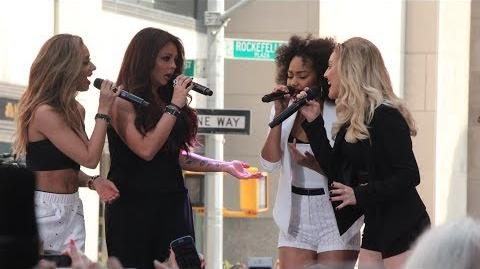 """Little Mix Perform """"Wings"""" LIVE At Rockefeller Plaza"""