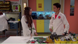 Val and Parker in the Science Lab