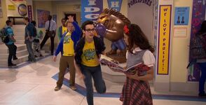 Artie shoves Joey to Alex