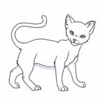 File:Cat Lineart 04 by Mireille29.jpg