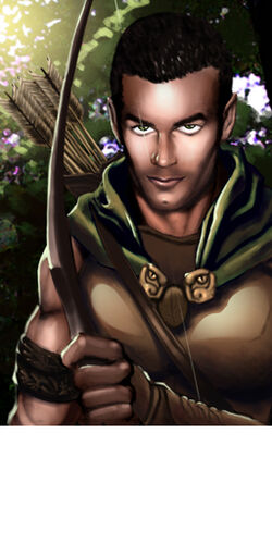 NWN portrait Half Elf Archer by Dozzy