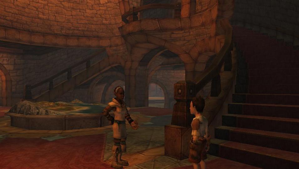Dialogue avec Carole dans le hall.JPG