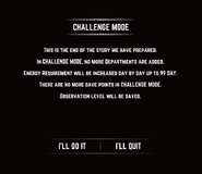 Challenge Mode Message
