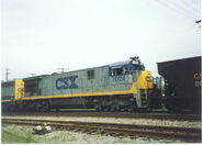 Oddly-painted CSX C30-7