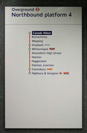 London Overground Canada water
