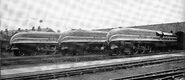 LMS Coronation Class Three Engines Section lined