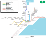GO Train System Map