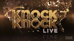 Knock Knock Live Titlecard