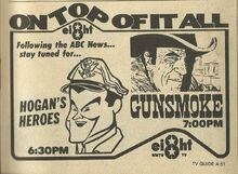 8 Gunsmoke Ad TV Guide Maine March 26-April 1, 1977 001