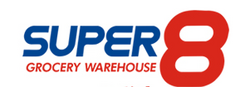 Super 8 Grocery Warehouse logo