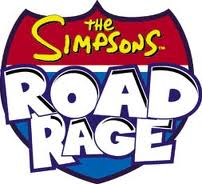 The simpsons road rage logo