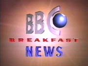 BBC-TV's BBC News' BBC Breakfast News Video Open From Monday Morning, October 2, 1989