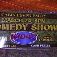 WSPK-FM's K104's Cabin Party Comedy Show Promo For Saturday Night, March 24, 2012
