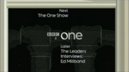 BBC One Number 10 Downing Street Coming up Next bumper