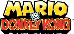 Mario vs DK Logo Wii U