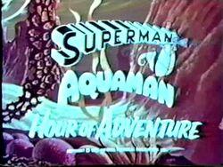 Superman Aquaman Hour of Adventure Promo Card