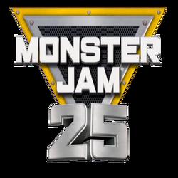 Monster Jam 25th Annversary Logo