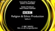 BBC Songs Of Praise End Board 2015