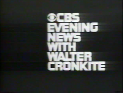 CBS Evening News 1970s LOGO