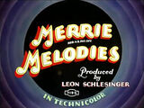 Page Miss Glory - Merrie Melodies Title Card