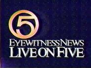 WEWS Logo 1986 d TV 5 Eyewitness News Live on Five