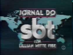 Jornal do SBT com Lillian Witte Fibe