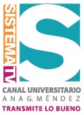 Sistema tv logo con slogan