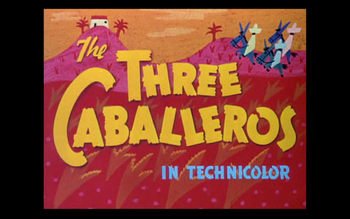 The Three Caballeros Logo 1944