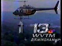 WVTM-TV's Channel 13's Sky 13 video id from 1988