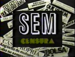 Sem Censura - 1985 logo