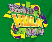 Incredible Hulk Coaster logo