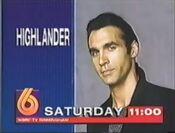WBRC Channel 6 promo for Highlander 1995
