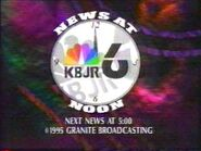 KBJR-TV's News 6 At Noon Video Close From September 1995