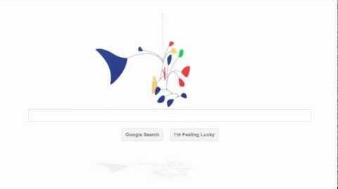 Alexander Calder Google Doodle Sways with Laptop Tilt