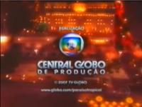 Paraíso Tropical seal long Globo 2005-2008 logo 2007